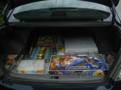 Trunk of my car, minus beer cooler and clothes.